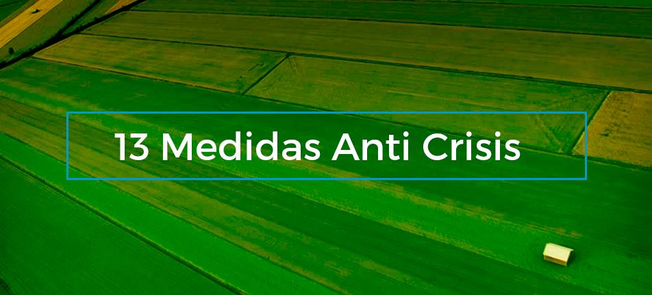 13 Medidas Anti Crisis Sector Agrario