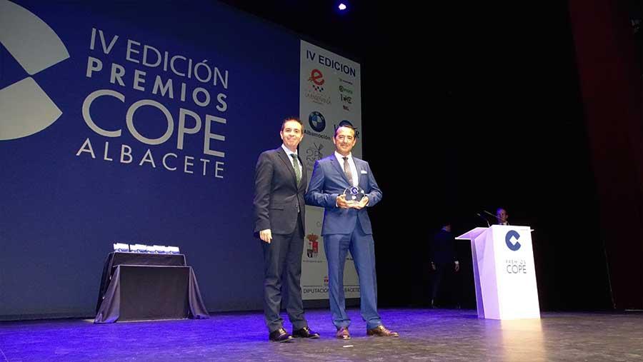 Ferroice: Premio Empresa Familiar - Industria Agroalimentaria en los IV Premios Cope Albacete