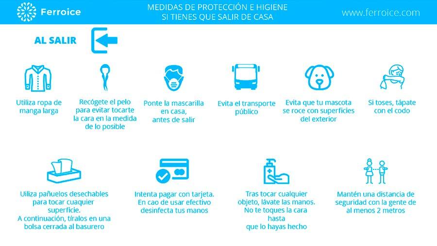 Coronavirus: medidas protección e de higiene si tienes ques salir de casa