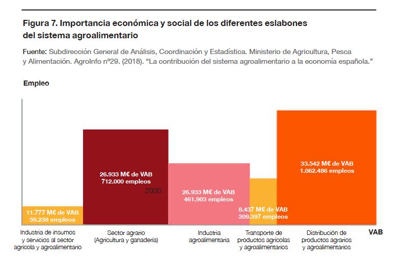Importancia económica y social de los diferentes eslabones del sistema agroalimentario